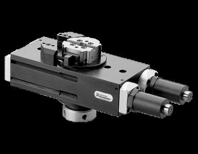 Attuatore rotante pneumatico_Pneumatic swivel and turning unit